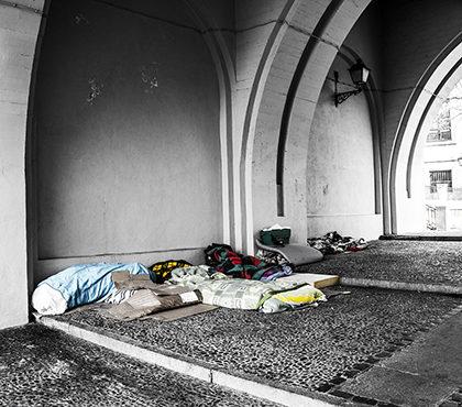 Dakloze heeft geen keukentafel